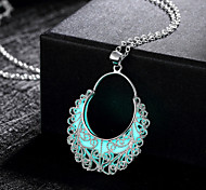 New Magical Glow in the Dark Luminous Flower Basket Pendant Necklace