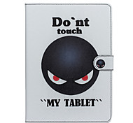 Don't Touch Me Patter PU Leather Full Body Case with Stand for iPad Air3