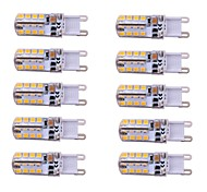 3W E14 / G9 Luces LED de Doble Pin T 48 SMD 2835 260 lm Blanco Cálido / Blanco Fresco Regulable AC 100-240 V 10 piezas