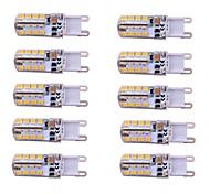 3W E14 / G9 2-pins LED-lampen T 48 SMD 2835 260 lm Warm wit / Koel wit Dimbaar AC 220-240 V 10 stuks
