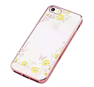 For iPhone 5 Case Rhinestone Case Back Cover Case Butterfly Soft TPU iPhone SE/5s/5