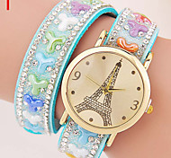 Ladies' Watch The New Diamond Inlaid Fashion Watch Color Multi Winding Bracelet Watch Cool Watches Unique Watches