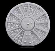 1wheel White Half Pearls 3d Nail Art Decorations
