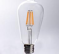 1 pieza kwbled E26/E27 5W / 7W / 8W 8 COB 750 lm Blanco Cálido ST64 edison Cosecha Bombillas de Filamento LED AC 100-240 V