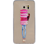 Macaron Girl Pattern Slim Relief TPU Material Phone Case for Samsung Galaxy S5/S6/S7/S6 edge/S6 edge+/S7 edge/S7 Plus