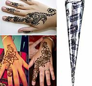 nero * coni henné tatuaggio temporaneo a base di erbe hina body kit arte inchiostro mehandi