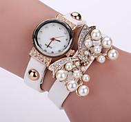 Women's Fashion Watch Butterfly Pearl Bracelet Watch PU Belt Cool Watches Unique Watches