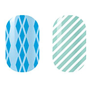 Blue/White Hollow Nail Stickers