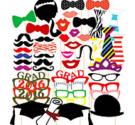 46PCS Graduation Card Paper Photo Booth Props Party Fun Favor