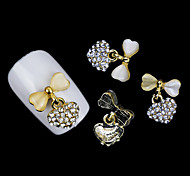 Lovely Mental Opal Alloy Bow Nail Jewelry (5Pcs)