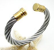 Punk Stainless Steel Maserratula Rope Cuff Bangle