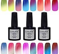 Lundle 8ml 60 Color Temperature Color Change Soak Off LED UV Gel Nail Polish
