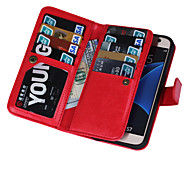 2 in 1 Magnetic 9 Cards Slots Flip Leather Case For Samsung Galaxy S4/S5/S6/S6 Edge/S6 Edge+/S7/S7 Edge(Assorted Colors)