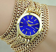 New Women Geneva Bracelet Watch Alloy Wrap Watch Gift for Women