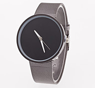 Men's Wrist watch Quartz Stainless Steel Band Grey