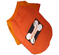 Dog Shirt / T-Shirt Orange Summer Cartoon