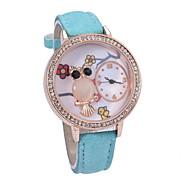 Women's Fashionable  Leisure Spider Gem Quartz Watch Leather Band Cool Watches Unique Watches