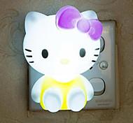 kreative warme weiße Katze in Bezug auf Baby-Schlaf-Nachtlicht
