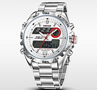WEIDE® Men's Full Steel Analog Digital Auto Date Alarm LCD Display Sport Watch Cool Watch Unique Watch