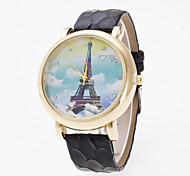 Women's European Style Fashion Sky Clouds Tower Rhinestone Casual Fashion Watches Cool Watches Unique Watches