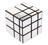 IQ Cube Magic Cube Three-layer Mirror Smooth Speed Cube Magic Cube puzzle Black / Silver ABS