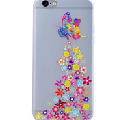 For iPhone 6 Case / iPhone 6 Plus Case Glow in the Dark / Translucent Case Back Cover Case Butterfly Soft TPU for iPhone 6s Plus/6 Plus