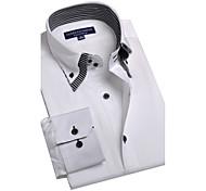 JamesEarl Men's Shirt Collar Long Sleeve Shirt & Blouse White - BA102050525