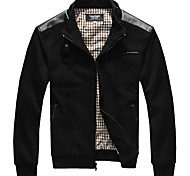 Lesmart Men's Stand Long Sleeve Jackets Black - MDME1231