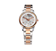 SINOBI Women's Fashion Watch Casual Watch Calendar Water Resistant / Water Proof Quartz Alloy Band Rose Gold