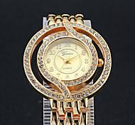 Frau hochwertigen Quarzdiamantstahlband Uhr