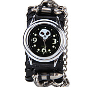 Unisex Fashion Watch Skull Bullet Red Eye Skull Cool Hip Hop Belt Quartz Watch(Assorted Colors)