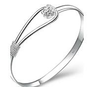 Bracelets Rigides / Manchettes Bracelets 1pc,Argent Bracelet Plaqué argent Bijoux Femme