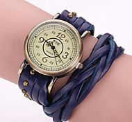 Woman's Leather Wrapped Chain Watch Cool Watches Unique Watches