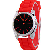 Women's Fashion Silicone Rubber Tape Analog Display Quartz Watch(Assorted Colors) Cool Watches Unique Watches