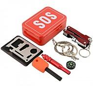 Kit de survie Randonnées / Camping / Voyage / Outdoor Kit de Secours / Urgence Aluminium Rouge