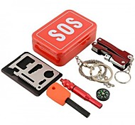Survival Kit Outdoor / Wandern / Camping / Reise Erste Hilfe / Notfall Aluminium Rot
