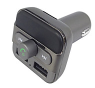 BT20 Bluetooth Handsfree FM Transmitter Dual USB Car Charger 3.4A Total Output Support TF Card Transfer MP3