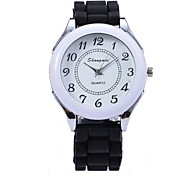 Women's Fashion Watch Quartz Rubber Band Black White Blue Brown