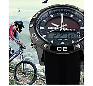 Masculino Relógio Esportivo Digital Calendário / Impermeável / Energia Solar Silicone Banda Preta marca