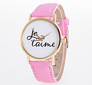 New Arrival Fashionable Casual Women's Wrist Watch Pu Leather Quartz Lava with Words Printed On Dial Cool Watches Unique Watches