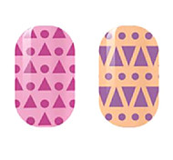 Purple Hollow Nail Stickers
