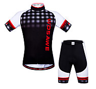 Wosawe Bike/Cycling Jersey + Shorts / Sweatshirt / Shorts / Arm Warmers / Padded Shorts / Jersey / Tops Unisex Short SleeveBreathable /