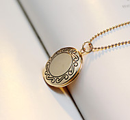 Europe And The United States Retro Box Can Put Photos Necklace