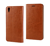 For OPPO Case Card Holder / with Stand / Flip Case Full Body Case Solid Color Hard PU Leather OPPO
