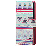 Triangles Pattern Magnetic PU Leather wallet Flip Stand Case cover for LG K5 X220