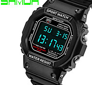 Men's Sport Watch Wrist watch LED Digital Silicone Band Black