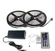wasserdicht 2 × 5m 150x5050 SMD RGB LED-Streifen und 44key Fernbedienung und 6a eu Stromversorgung (AC110-240V)