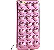 software cordão caso de telefone chapeamento de TPU em forma de coração para iPhone 6 / 6s / 6 mais / 6s mais