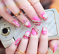 24pcs/set Fake Nails False Nail Finished Manicure Nails Tips