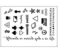 5PCS Fashion Cartoons Body Art Waterproof Temporary Tattoos Sexy Tattoo Stickers (Size: 3.74'' by 5.71'')